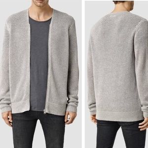 All Saints Metz Knit Cardigan Zip